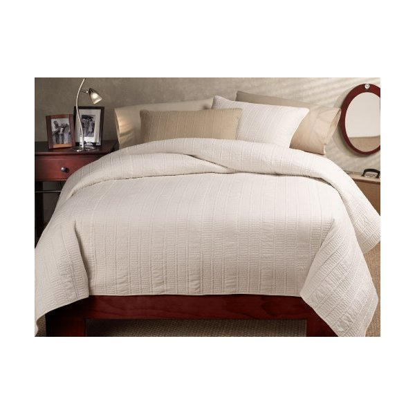 American Mills Frankfurt Bedding Set, Full/Queen, White
