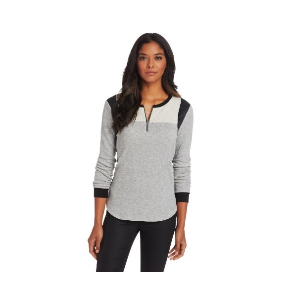 Rebecca Taylor Women's Silk Sweatshirt, Grey, Large