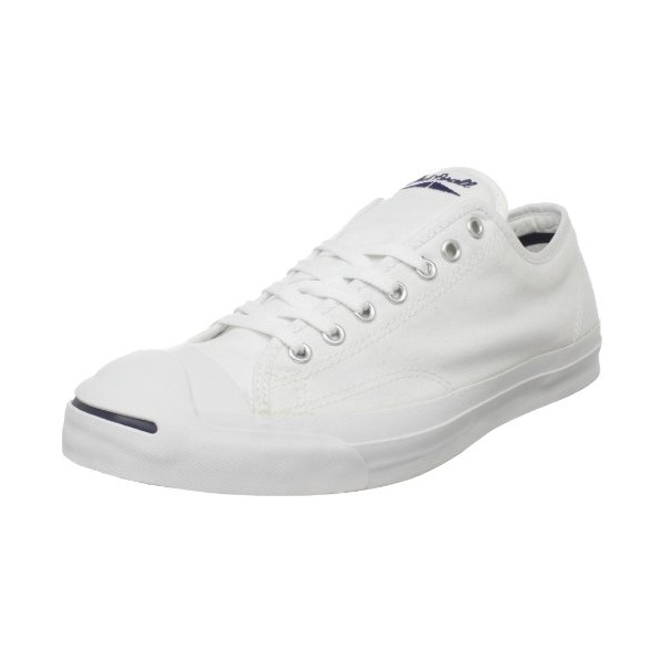 Converse Men's Jack Purcell Canvas Sneakers, White, 8.5 D(M) US