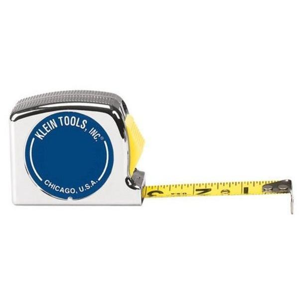 "Klein Tools Steel Tape, Power-Return, 25' x 1"""