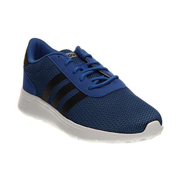 adidas NEO Men's Lite Racer Lifestyle Runner Sneaker, Blue/Black/Running Shoe White, 7 M US