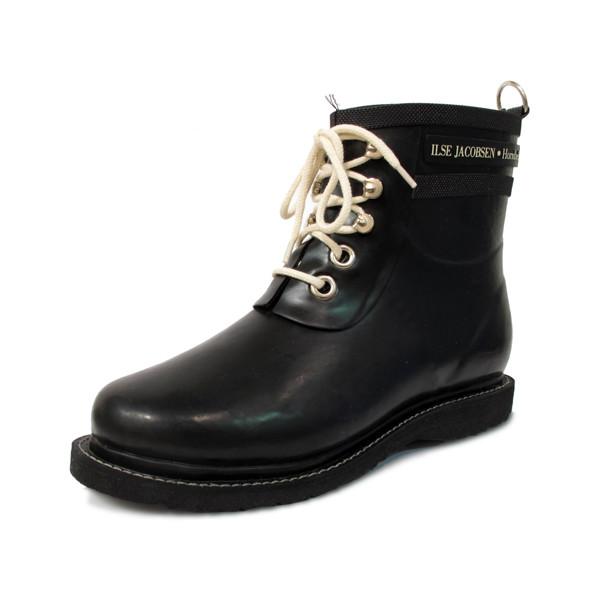 ILSE JACOBSEN, Insulated Rubber Rain Boot, Black