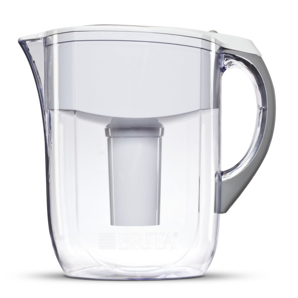 Brita Grand Water Filter Pitcher, White, 10 Cup