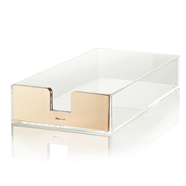 Kate Spade Acrylic Gold Letter Paper Tray