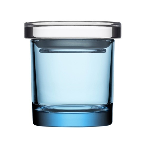 Iittala Small Glass Jar, Light Blue