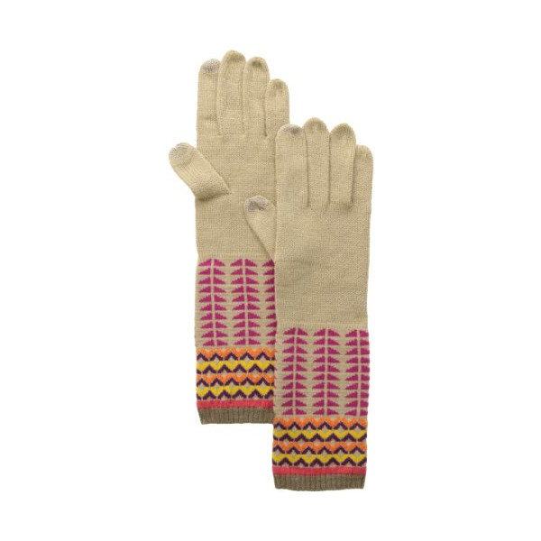 Echo Design Women's Pattern Blocking Touch Glove, Fuchsia, One Size