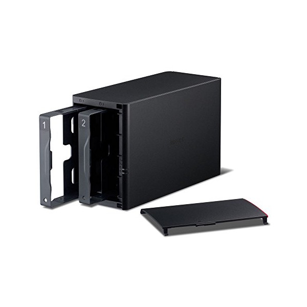 BUFFALO LinkStation 220e Diskless Enclosure RAID NAS Personal Cloud Storage and Media Server (LS220DE)
