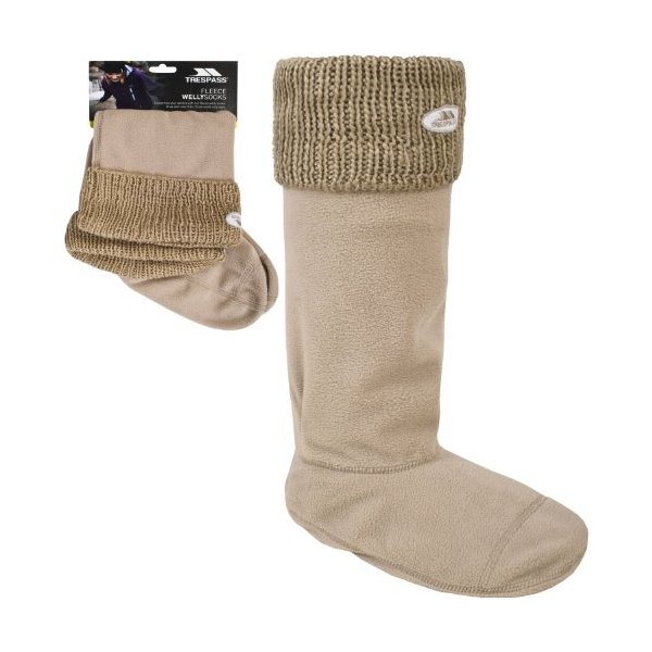 "Trespass ""Gabbie"" Welly Sock - Fawn (Large)"