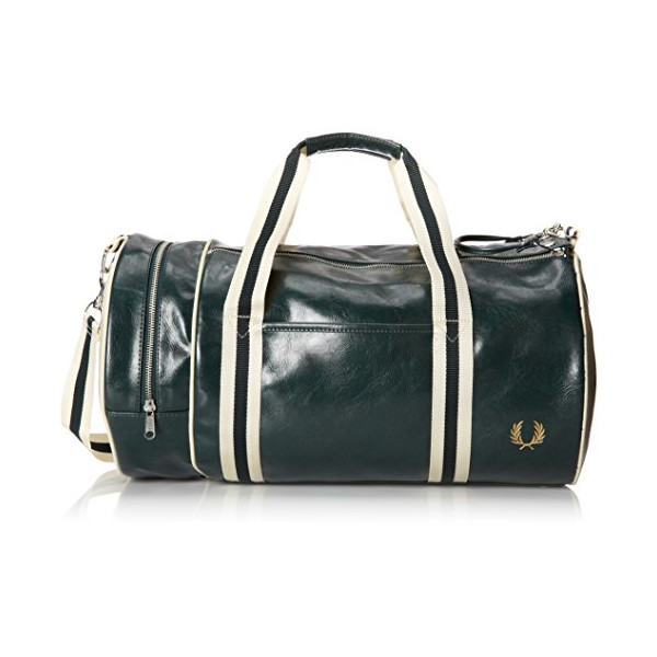 Fred Perry Classic Barrel Bag, Ivory/Ecru, One Size