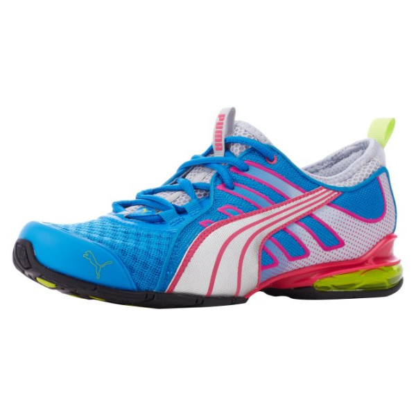 PUMA Women's Voltaic 4 Mesh Cross-Training Shoe,Brilliant Blue/Silver Pink,7.5 B US
