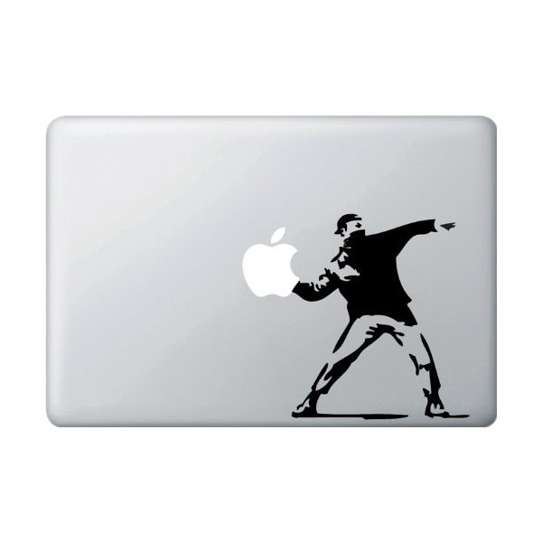 Molotov Guy Throwing Apple - Vinyl Laptop or Macbook Decal