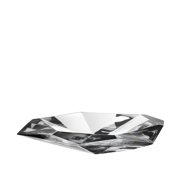 Orrefors Precious 9-5/8-Inch Faceted Crystal Dish