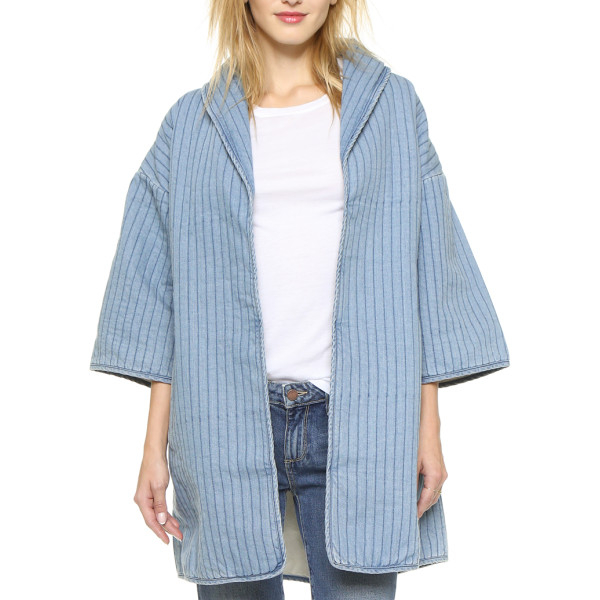 Ganni Blou Denim Coat, Denim