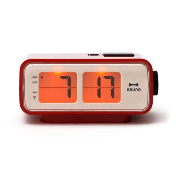 Retro Digital Flip Desk Alarm Clock Red