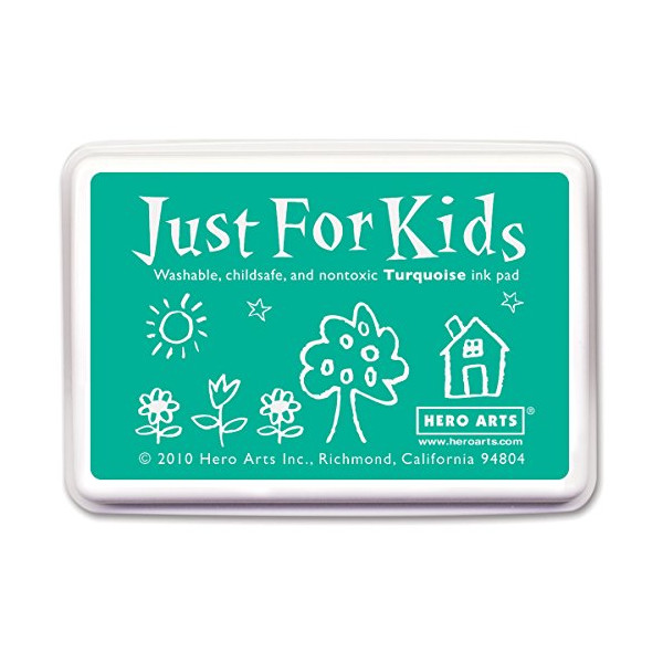 Hero Arts Rubber Stamps Just for Kids, Turquoise