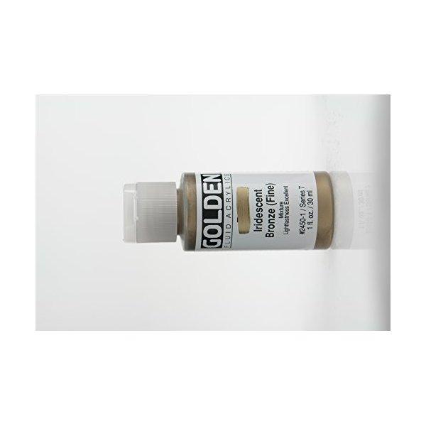 Golden Fluid Acrylic Paint 1 Ounce-Iridescent Bronze