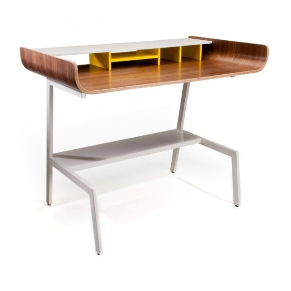 Half Pipe Writing Desk Finish: Walnut