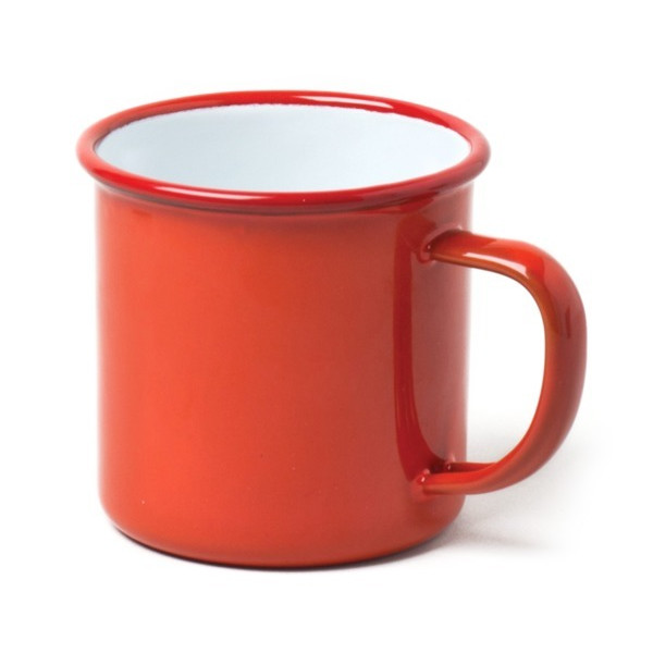 Falcon Enamelware Mug, Red