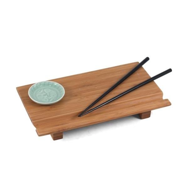 Joyce Chen 55-1106, Bamboo Sushi Board Set 6 inch by 10-1/2 inch