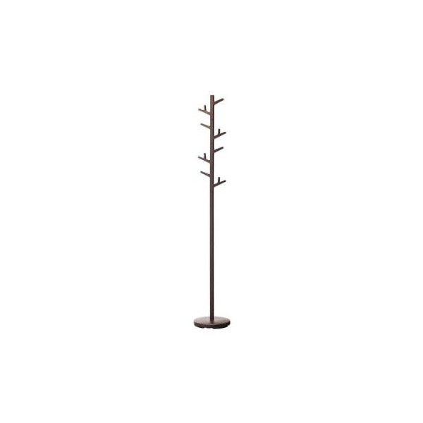 "Paul - Brown Color Modern Coat Rack / Stand, 70"" High"