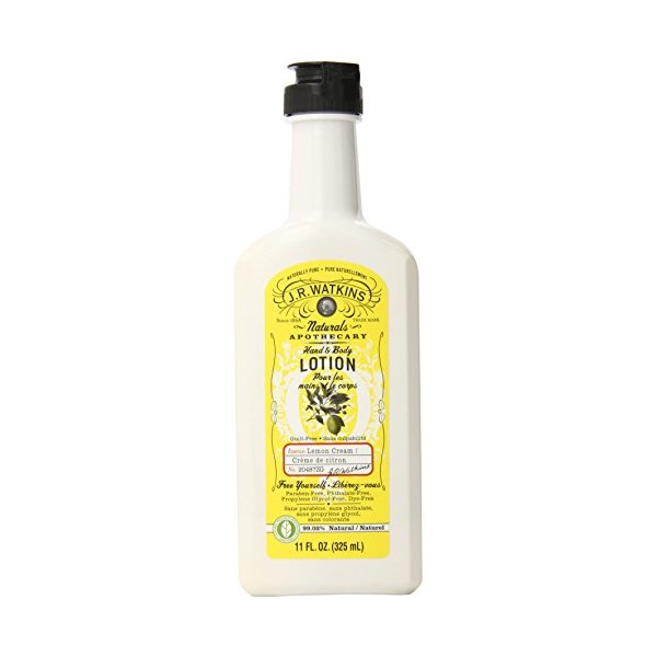 J.R. Watkins Hand & Body Lotion, Lemon Cream, 11-Ounce (Pack of 3)