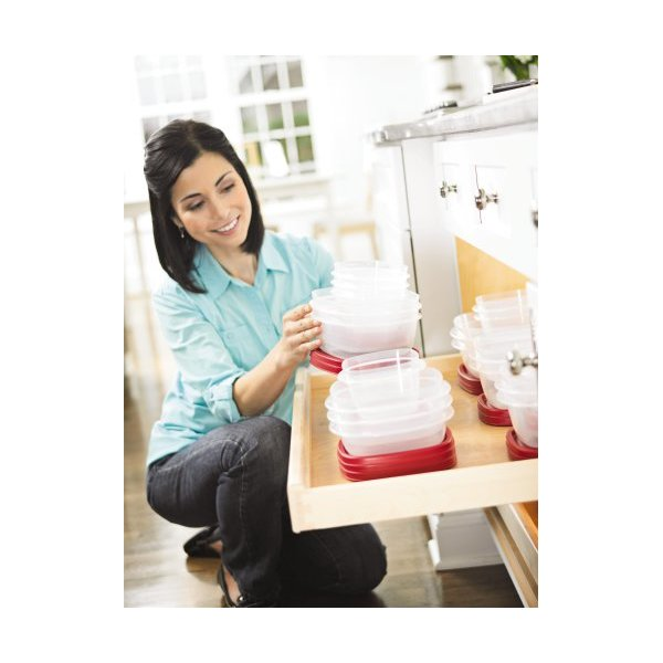 Rubbermaid Plastic Easy Find Lid Food Storage Set, 42-Piece