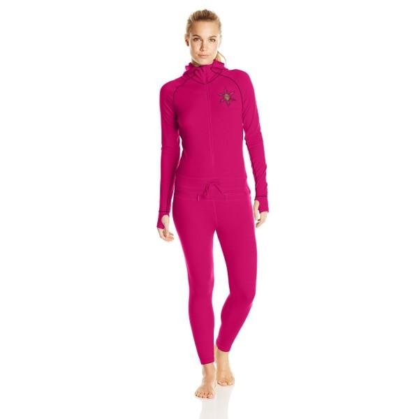 Airblaster Women's Merino Base Layer Ninja Suit, Berry, Large