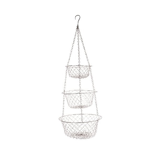 Fox Run Brands Hanging Basket, White