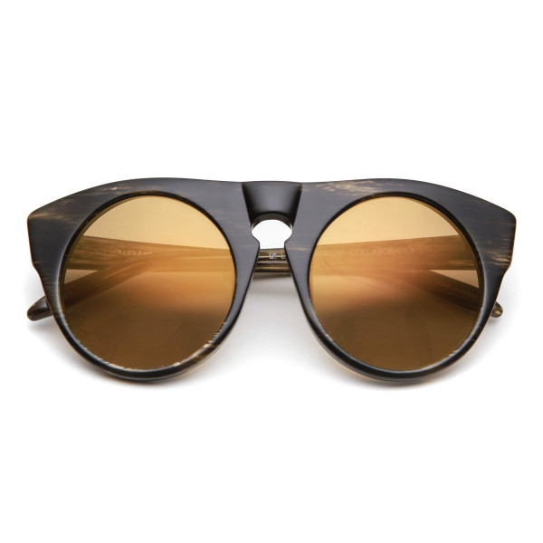 Alexander Wang by Linda Farrow Round Frame Sunglasses