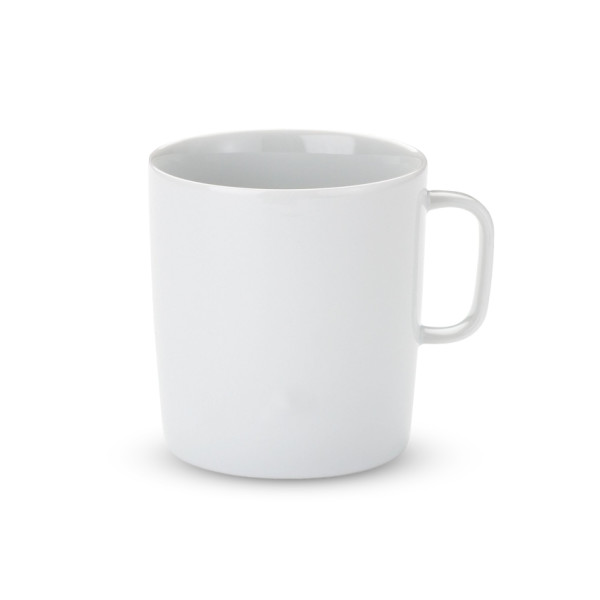 Platebowlcup Mug, White Porcelain, Set of 4