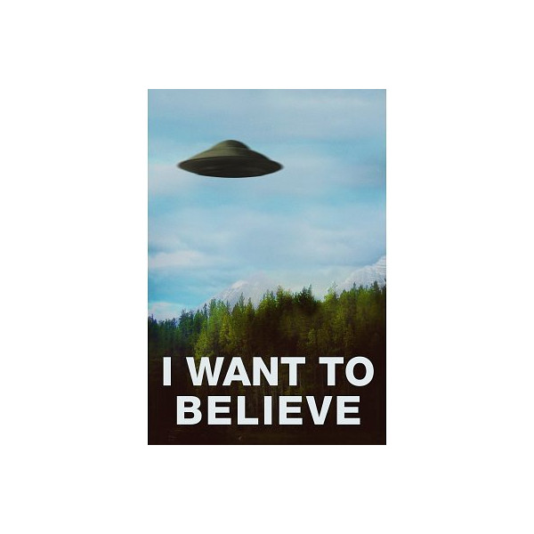 (24x36) The X-Files I Want To Believe TV Poster Print