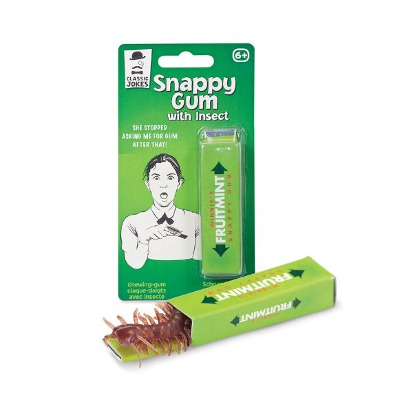 Snappy Chewing Gum with Insect Bug Critters Gag Joke Prank Office Friends