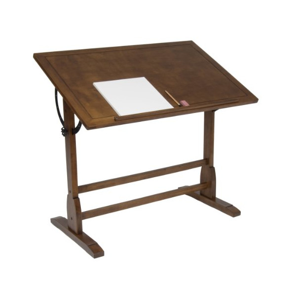 Studio Designs 42in Vintage Drafting Table / Rustic Oak