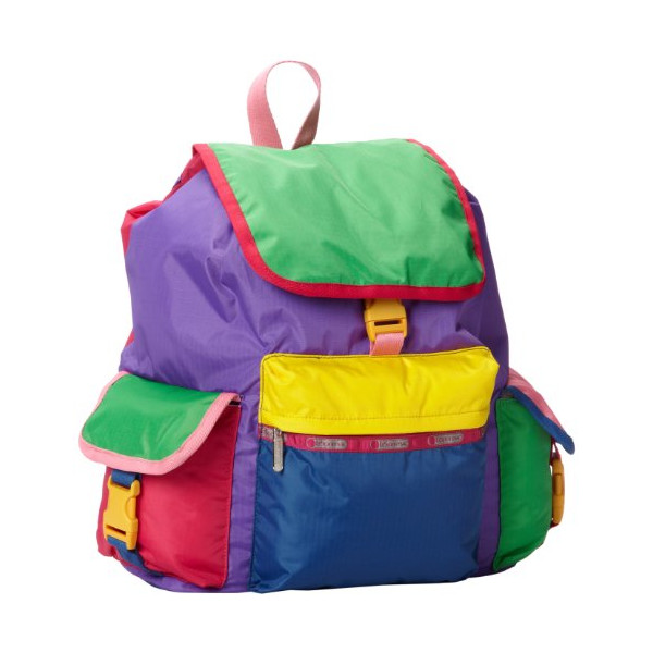 LeSportsac Voyager Backpack,Colorburst Backpack,One Size