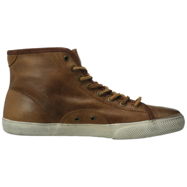 FRYE Men's Chambers High Sneaker, Cognac