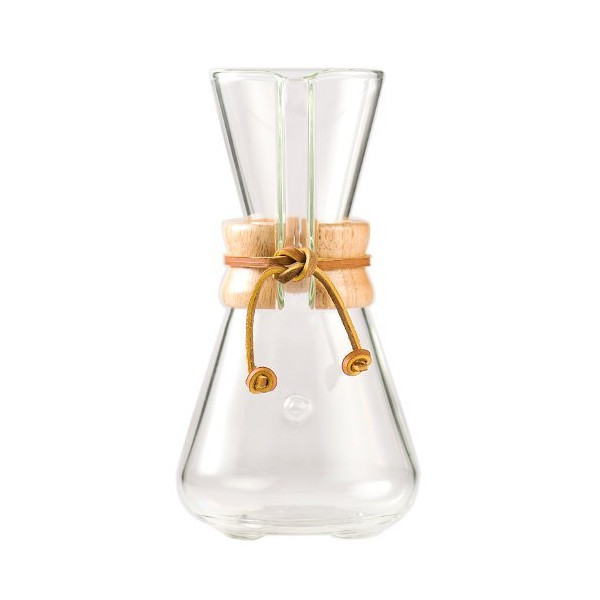Chemex Hand blown Glass Coffee Maker, 1 to 3 Cups
