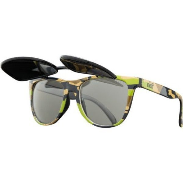 Neff Flipper Sunglasses Camo, One Size