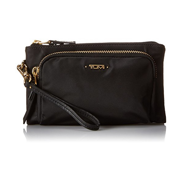 Tumi Voyageur Valera Triple Compartment Wristlet, Black, One Size