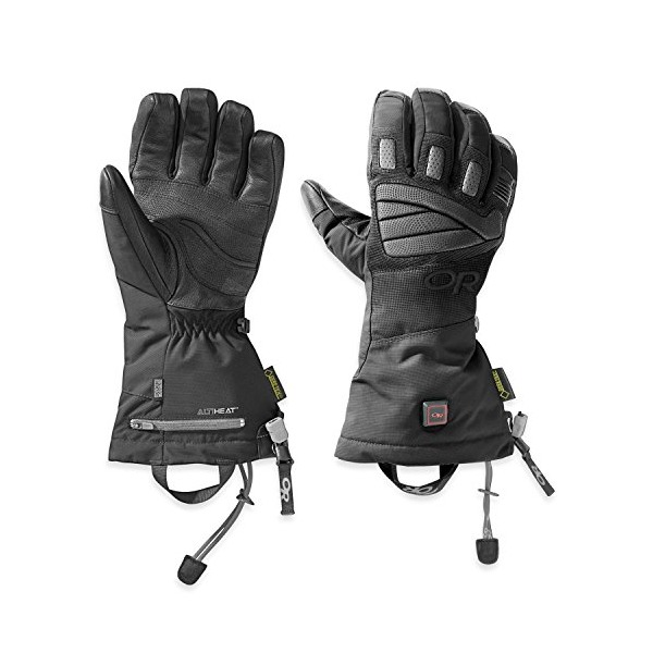 Outdoor Research Lucent Heated Gloves, Black, Large