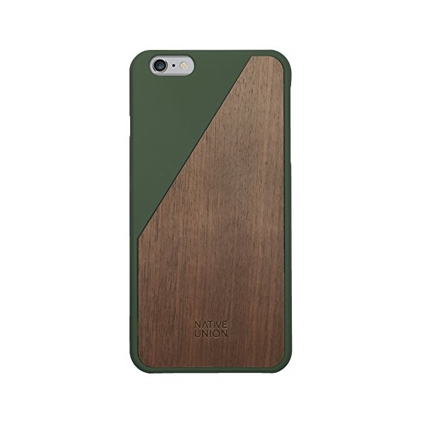 Native Union CLIC Wooden case for iPhone 6 Plus / 6S Plus - Handcrafted Real Wood Protective Slim Case Cover (Olive)