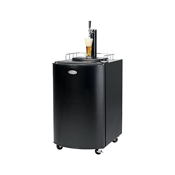 Nostalgia KRS2100 Full Size Kegorator Black Draft Beer Dispenser