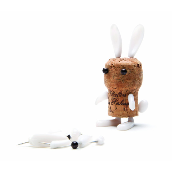 Corkers DIY Wine Cork Animal Puzzle Stylish Decorative Bunny Design