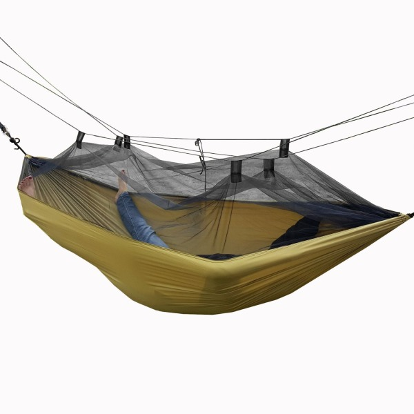 Camping Hammock with Mosquito Net by Arete Travel & Leisure - Relaxing, Portable, Comfortable & Outdoor Fun. Hammocks Include Carabiners, Rope, Guy Lines. Ultralight, Strong, & Easy with Free Instructional Videos. Start Your Next Adventure Today!