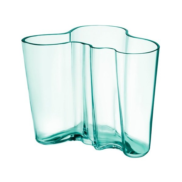 Iittala Aalto 6.25 Tall Glass Vase, Water Green