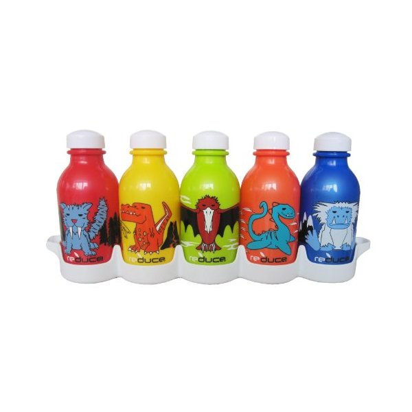 Reduce 01308 Waterweek Kids Lil Monsters Waterbottle, Set of 5
