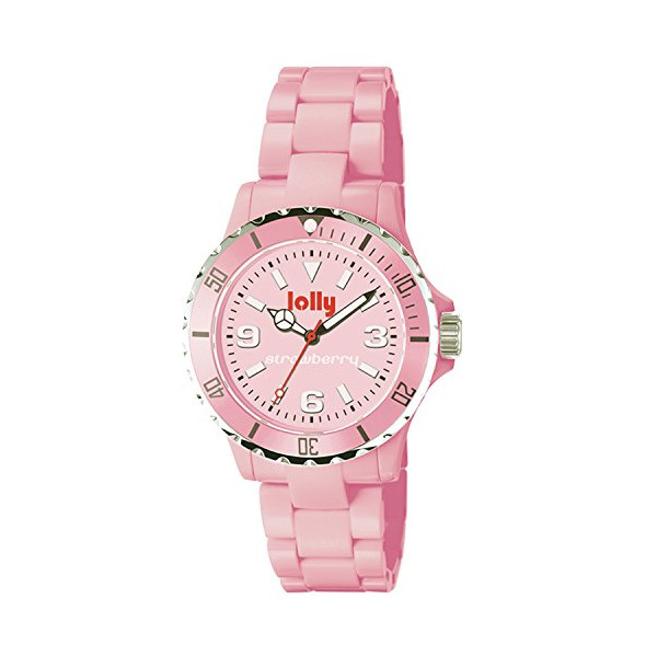 lolly Japanese Quartz Strawberry Pink Dial Women's Watch