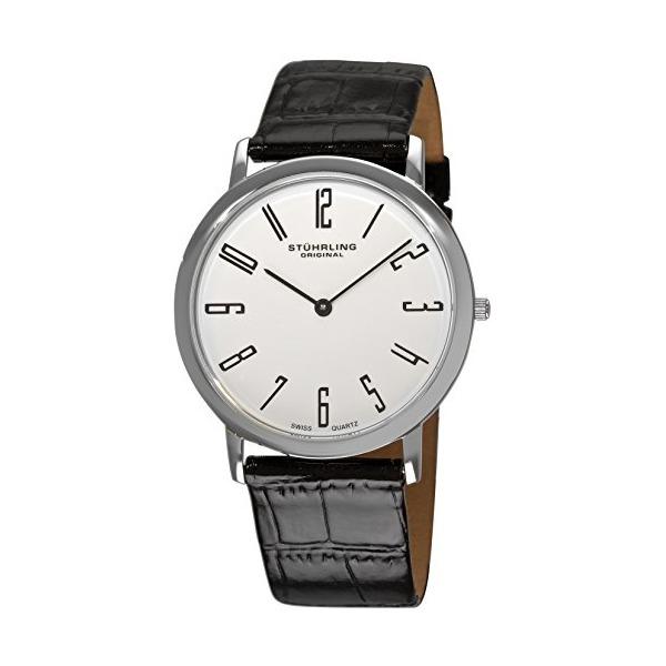 Stuhrling Original Men's 216A.33153 Classic Ascot Belmont Swiss Quartz Slim White Dial Watch
