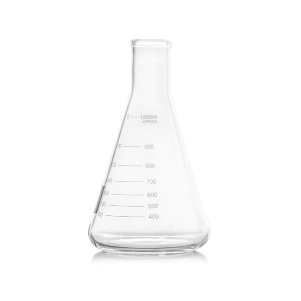 Karter Scientific 5000ml Narrow Mouth Erlenmeyer Flask
