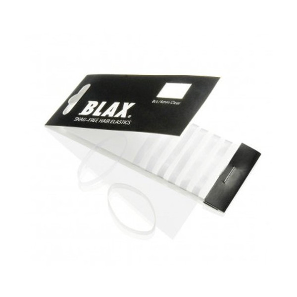 Blax CLEAR Hair Elastics 4mm, 8 ct