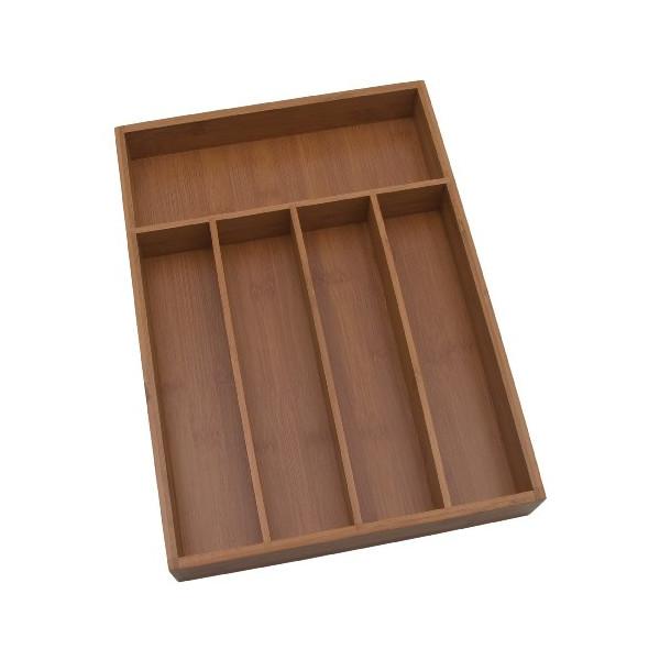 Lipper International Bamboo 10-1/4-by-14-Inch Flatware Tray